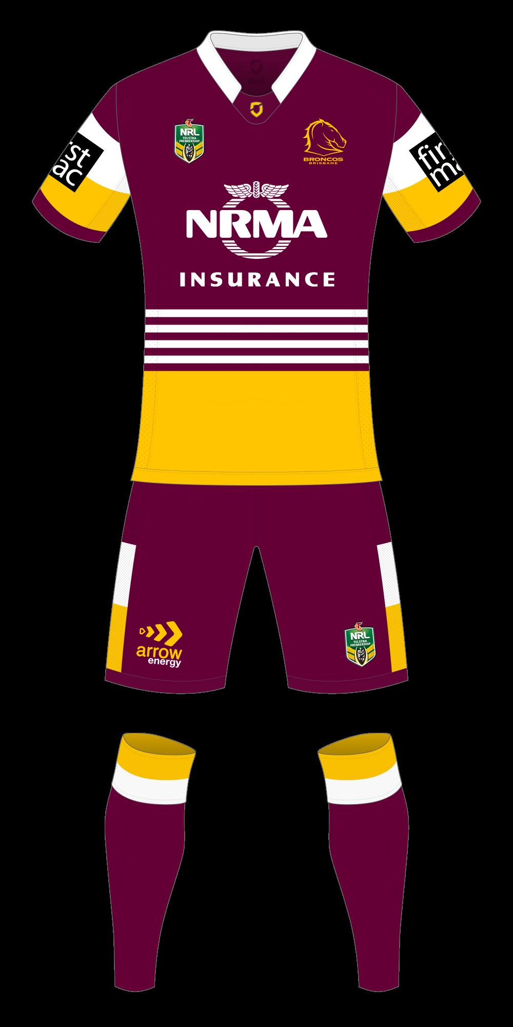Brisbane Broncos Home Kit