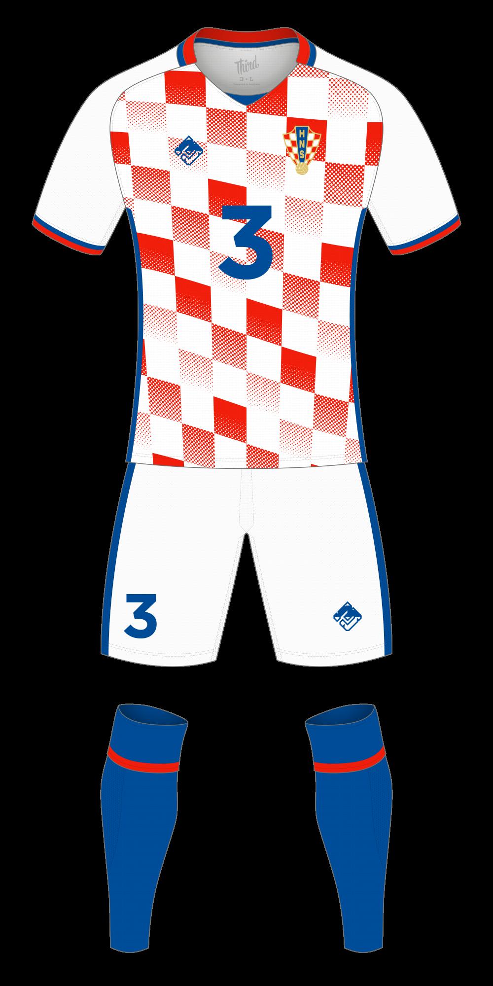 Croatia World Cup 2018 concept