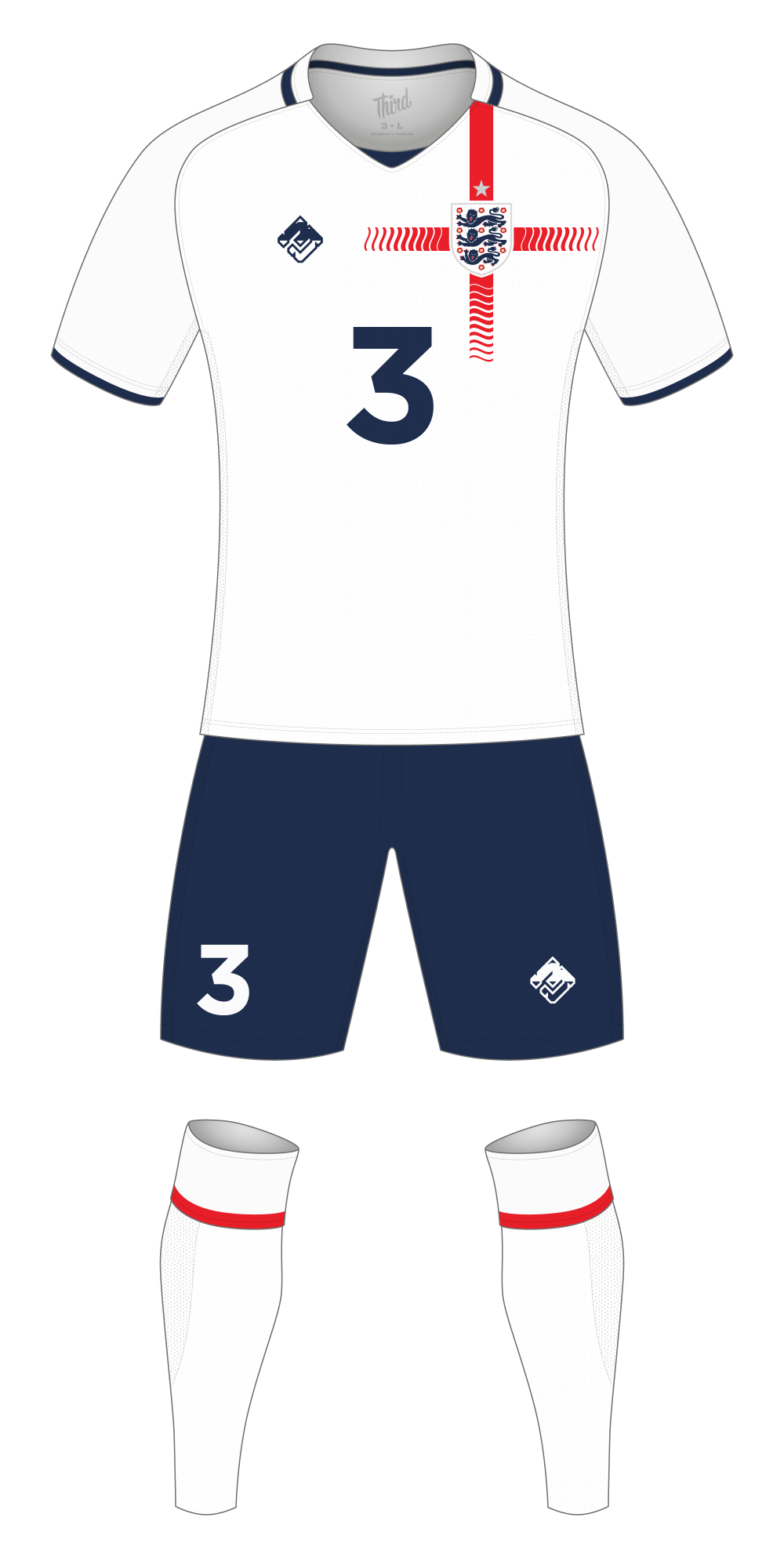 England World Cup 2018 concept