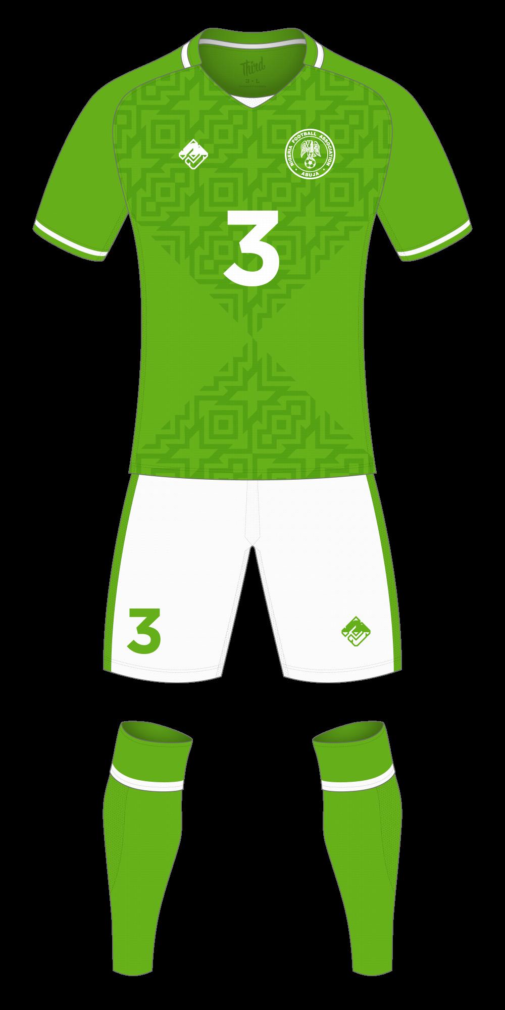 Nigeria World Cup 2018 concept