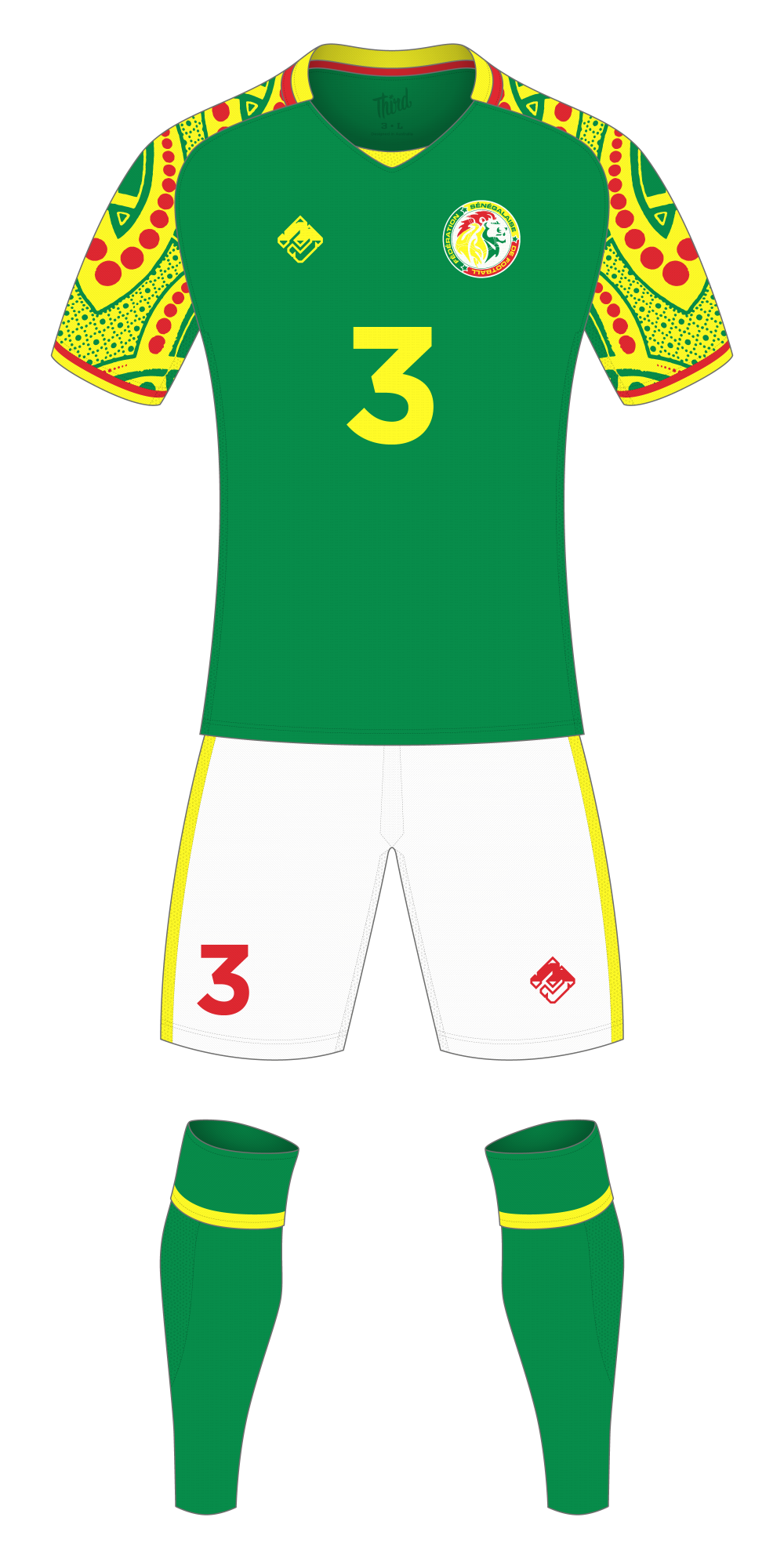 Senegal World Cup 2018 concept