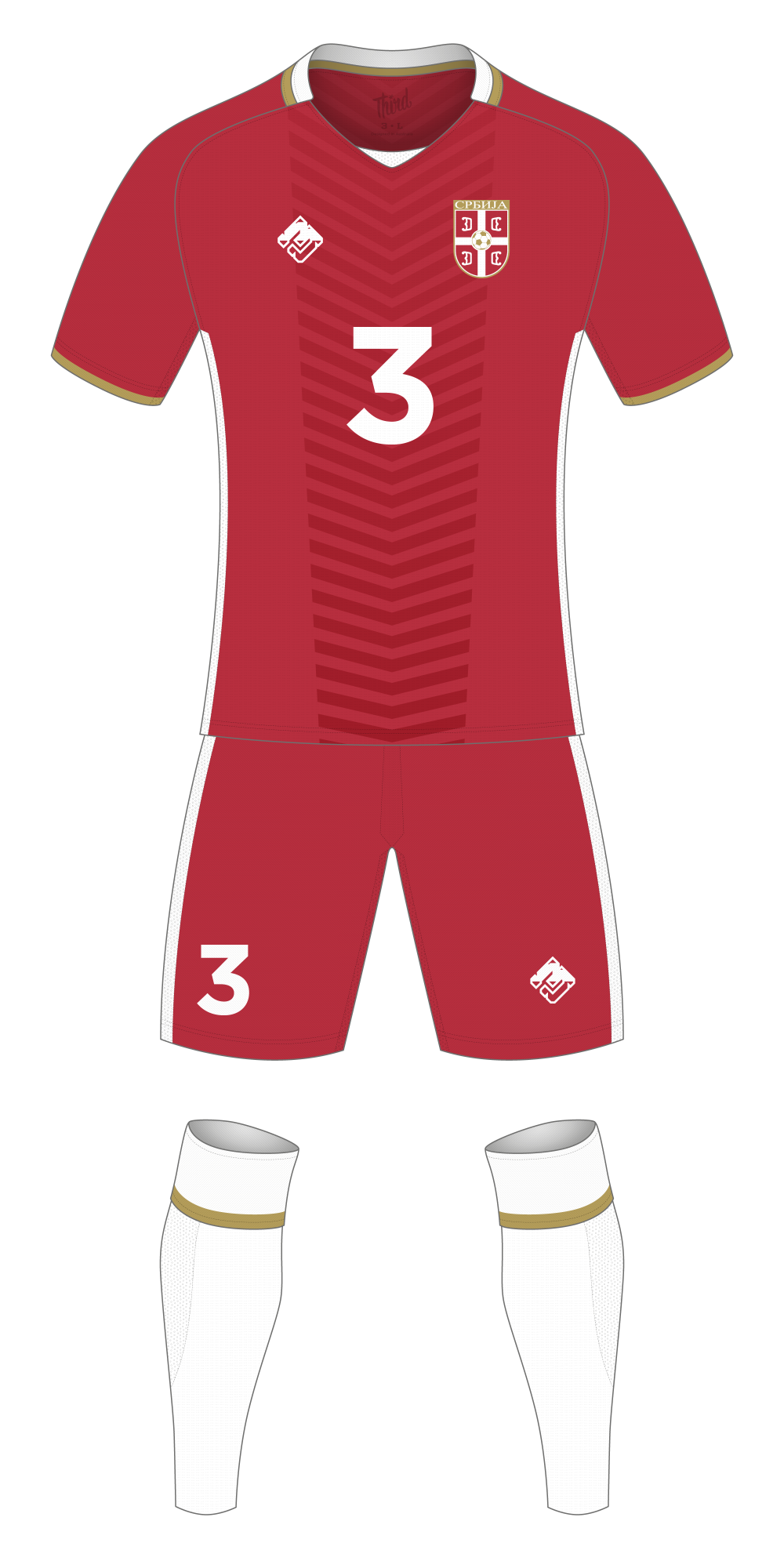Serbia World Cup 2018 concept
