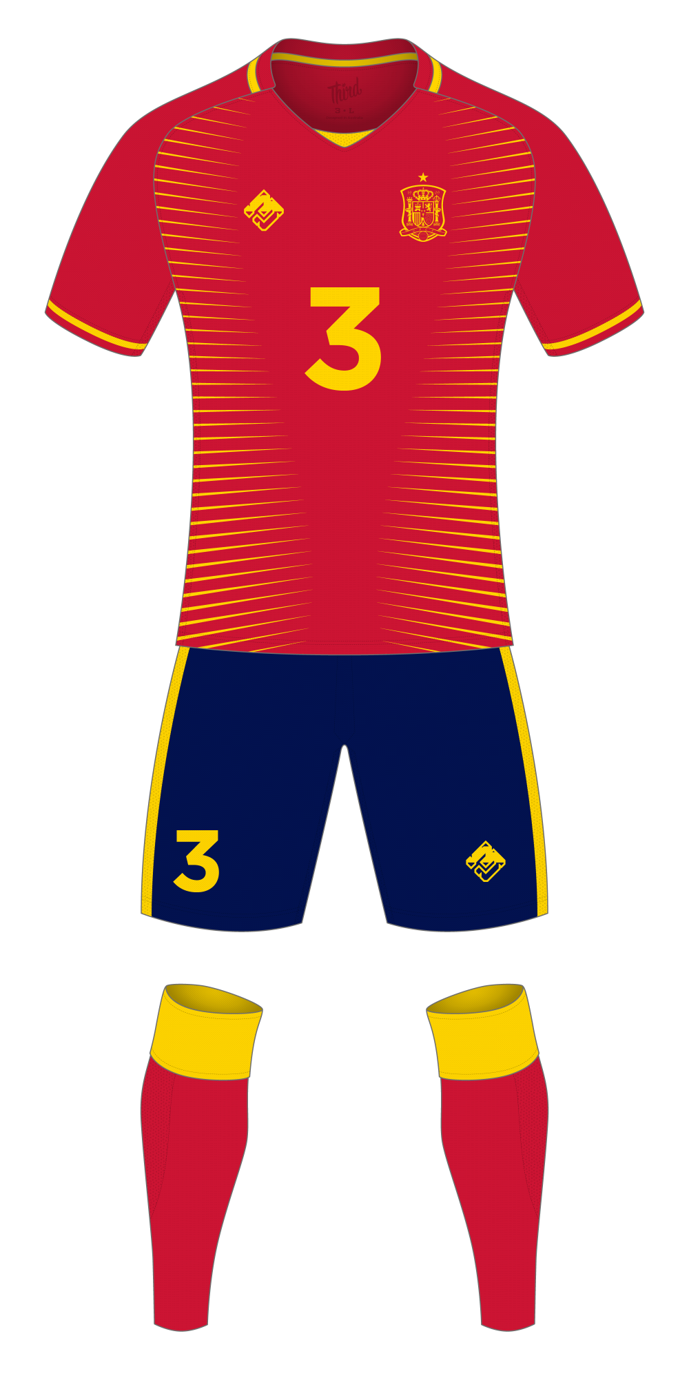 Spain World Cup 2018 concept